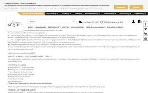 Screenshot of FAQ Page laurentmiquelshop.nl - Veelgestelde vragen - captured Sept. 27, 2018