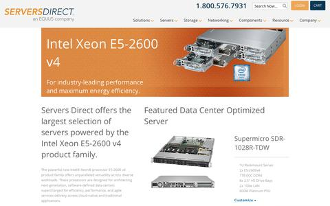 Servers Featuring Intel Xeon E5-2600 V3 - Customize Online (e52600)