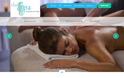 Screenshot of Home Page pvspa.com - The Spa at Ponte Vedra Inn & Club - Ponte Vedra Spa - captured Feb. 15, 2016
