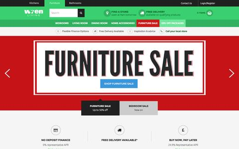 Screenshot of Home Page wrenliving.com - Furniture For Bedrooms, Lounge & Dining | Wren Living - captured Jan. 11, 2016
