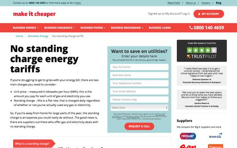 No Standing Charge Energy Tariffs | Make It Cheaper