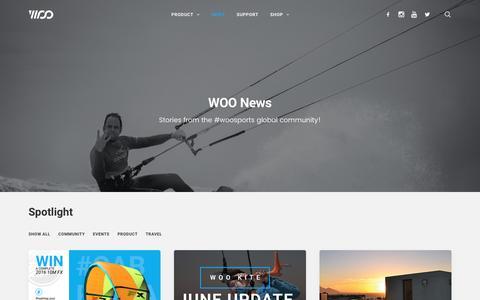 Screenshot of Press Page woosports.com - News – WOO Sports - captured July 4, 2016