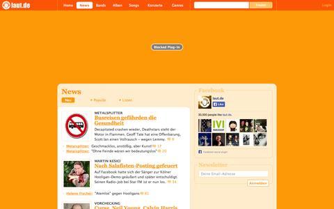 Screenshot of Press Page laut.de - News – laut.de – Täglich aktuelle Nachrichten aus der Musikwelt - captured Oct. 29, 2014