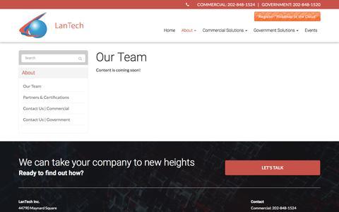 Screenshot of Team Page lantechinc.net - Our Team - Ashburn, Sterling, Lansdowne | LanTech Inc - captured July 14, 2017