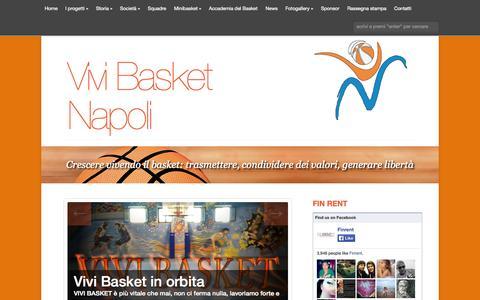 Screenshot of Press Page vivibasket.it - Vivi Basket Napoli | Blog - captured Oct. 8, 2014