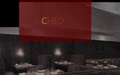 Screenshot of Home Page chedgroup.com - CHED Concept Restaurants - Premier Restaurant and Bar Management - captured Sept. 29, 2014