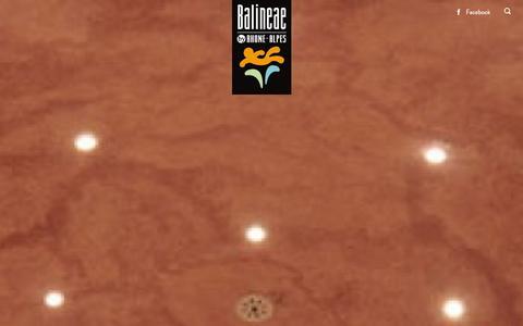 Screenshot of Home Page balineae.fr - Cure thermale, Mieux tre en Rh™ne Alpes - Balineae - captured Jan. 16, 2016