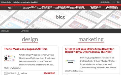 Screenshot of Blog readyartwork.com - Blog | Los Angeles Magento Website Design Developer | Website Design + Marketing from Los Angeles since 2003! - captured Feb. 18, 2016