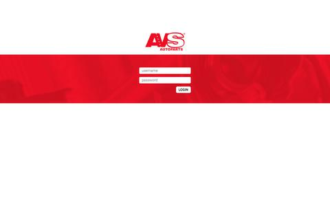 Screenshot of Login Page avsricambi.com - Login - AVS Autoparts - captured Oct. 7, 2017