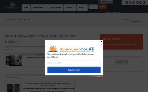 Screenshot of Press Page sunnylandtours.com - Sunnylandtours - All-news Travel, Travel all-news, All-news Travel Vacation Packages - captured Nov. 14, 2018