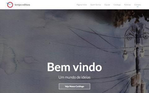 Screenshot of Home Page tempolivros.com - Tempo Editora - captured Oct. 7, 2014