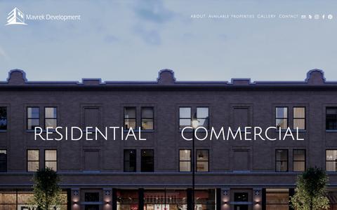 Screenshot of Home Page mavrekdevelopment.com - Mavrek Development | Chicago Development Firm - captured Aug. 18, 2018