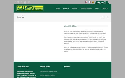 Screenshot of About Page firstline.co.uk - First Line   –  About Us - captured Oct. 6, 2014