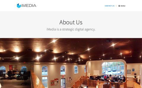 Screenshot of Team Page imediainc.com - About IMEDIA | IMEDIA Inc. - captured April 19, 2018