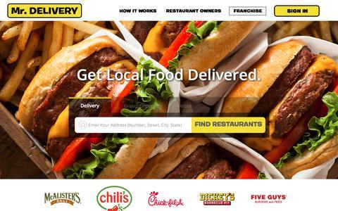 Screenshot of Home Page mrdelivery.com - Restaurant Delivery - Mr. Delivery | Food Delivery - captured July 1, 2018