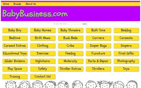 Screenshot of Products Page baby-business.com - BabyBusiness.com, directory for products in the baby, infant and juvenile industry - captured July 2, 2016