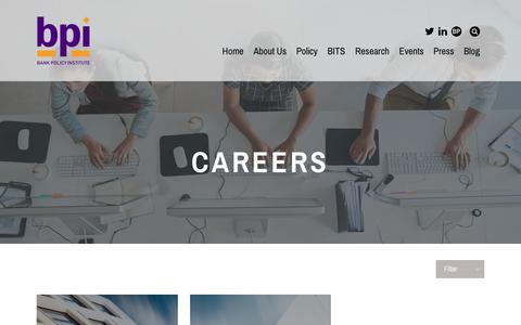 Screenshot of Jobs Page bpi.com - Careers - BPI - captured Oct. 10, 2018