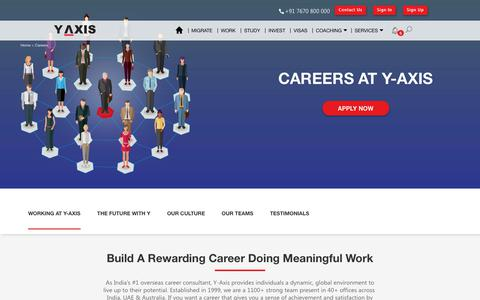 Screenshot of Jobs Page y-axis.com - Y-Axis Careers - captured July 21, 2018