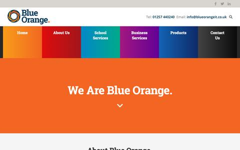 Screenshot of About Page blueorangeit.co.uk - About Blue Orange IT | Blue Orange IT - captured Oct. 6, 2018