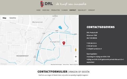 Screenshot of Contact Page drl-products.nl - Contact - DRL Products - captured Nov. 6, 2018