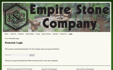 Screenshot of Login Page empirestoneco.com - Login - Empire Stone Company - captured Jan. 28, 2016