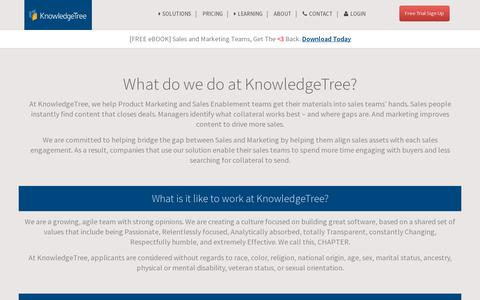 Screenshot of Jobs Page knowledgetree.com - Jobs at KnowledgeTree - captured July 21, 2014