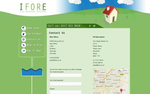 Screenshot of Contact Page ifore.co.uk - Contact IFORE | Ifore - captured Oct. 3, 2014