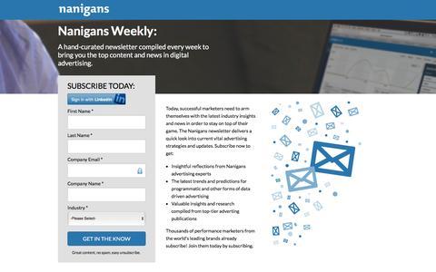 Nanigans Weekly Newsletter