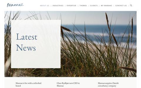 Screenshot of Press Page mannaz.com - News - Mannaz - captured Nov. 6, 2016