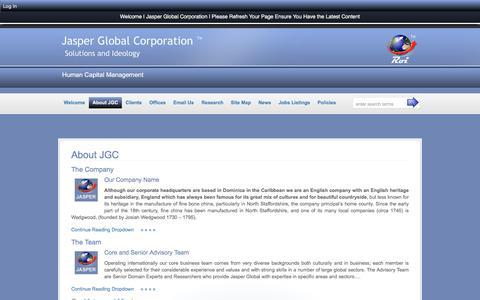Screenshot of About Page jasperglobal.com - About JGC :: Jasper Global Corporation - captured Nov. 19, 2016