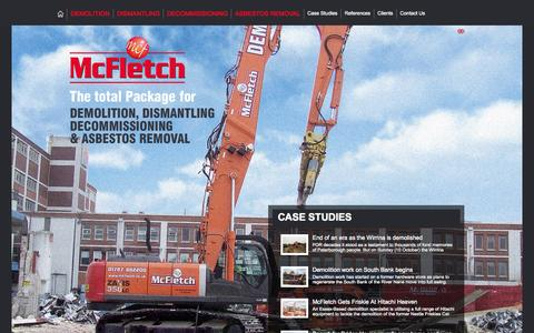 Screenshot of Case Studies Page mcfletch.co.uk - Case Studies from McFletch Demolition Contractors and Asbestos Removal Specialists, Suffolk, UK - captured Oct. 27, 2014