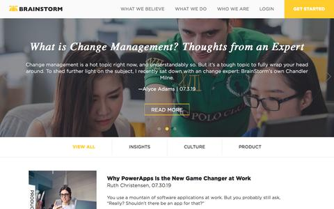 Screenshot of Blog brainstorminc.com - Blog | BrainStorm - captured Sept. 12, 2019
