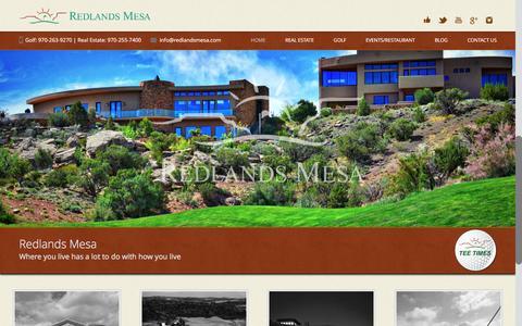 Screenshot of Home Page redlandsmesa.com - Redlands Mesa | Award-Winning Golf Course Colorado | Where you live has a lot to do with how you live - captured Feb. 8, 2016