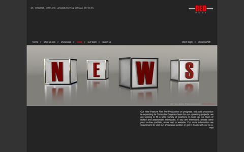 Screenshot of Press Page redpostproduction.com - News | Redpostproduction.com - captured Oct. 9, 2014