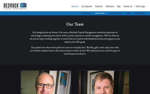 Screenshot of Team Page bedrockcapital.com - Our Team   Bedrock Capital Mangement - Silicon Valley - captured Oct. 5, 2014