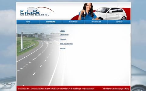Screenshot of Login Page exleasesales.nl - Login Ex Lease Sales - captured Oct. 3, 2014