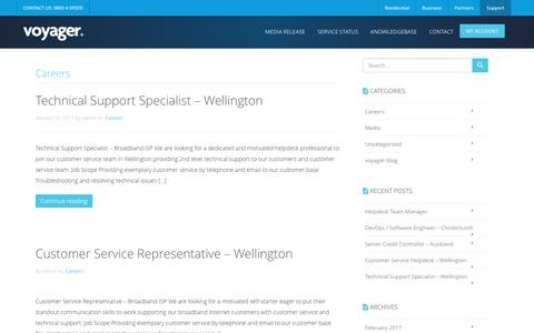 Technical Support Specialist – Wellington