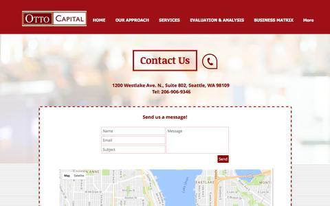 Screenshot of Contact Page ottocapital.com - ottocapital2 | CONTACT - captured Nov. 30, 2016