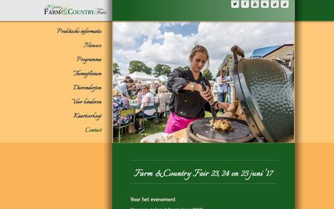 Screenshot of FAQ Page countryfair.nl - Faq - captured Nov. 18, 2016