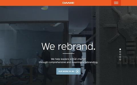 Screenshot of Home Page daake.com - DAAKE | Rebranding Experts - captured June 17, 2015