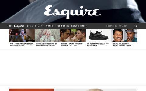 Screenshot of Home Page esquire.com - Esquire - Men's Fashion, Cocktails, Politics, Interviews, and Women - captured Jan. 27, 2016