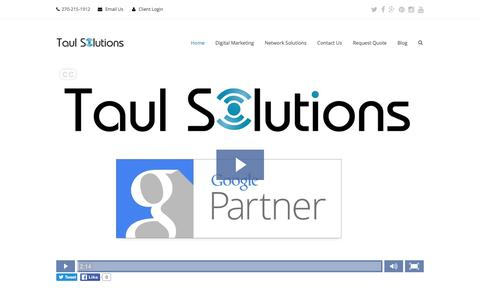 Screenshot of Home Page taulsolutions.com - Digital Marketing Agency | Network Solutions | Taul Solutions - captured Jan. 10, 2016