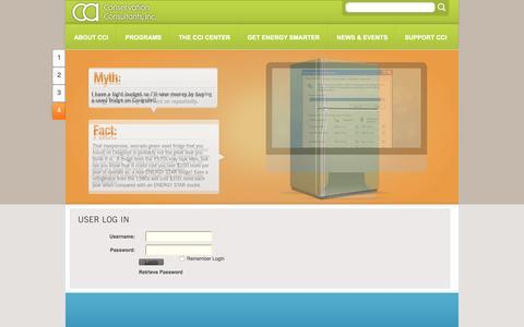 Screenshot of Login Page ccicenter.org - User Log In - captured Nov. 10, 2016