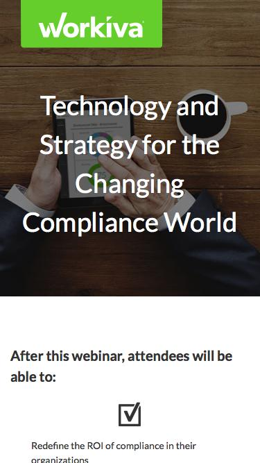 Technology and Strategy for the Changing Compliance World | Workiva