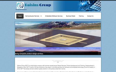 Screenshot of Home Page raisinsgroup.com - www.raisinsgroup.com - captured Sept. 30, 2014