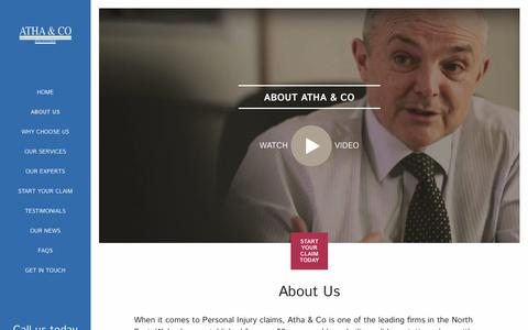 Screenshot of About Page atha.co.uk - About Us | Atha & Co Solicitors - captured Nov. 13, 2018