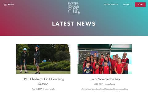 Screenshot of Press Page exetergcc.co.uk - Category: Latest News - captured Aug. 28, 2017