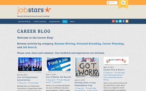 Screenshot of Blog jobstars.com - Career Blog - JobStars - captured Sept. 26, 2016