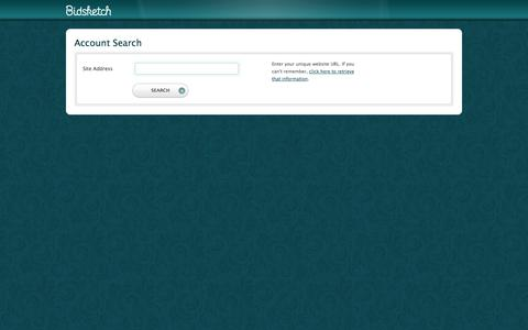 Screenshot of Login Page bidsketch.com - Account Search | Bidsketch - captured Sept. 18, 2014