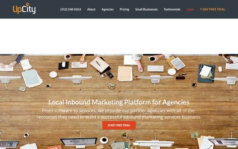 Screenshot of Pricing Page upcity.com - SEO Software for Agencies   Inbound Marketing Platform   UPCITY - captured June 20, 2017